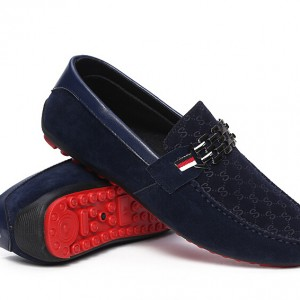 Genuine Leather Suede Loafers